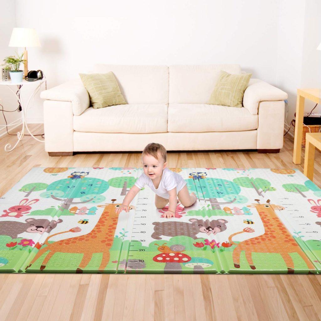 1. Baby Spielmatte, Bammax Babymatte, Baby Krabbelmatte, faltbare baby bodenmatte