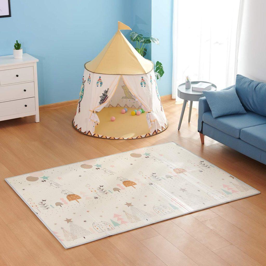 2. Baby Spielmatte, Bammax Babymatte, Baby Krabbelmatte, faltbare baby bodenmatte