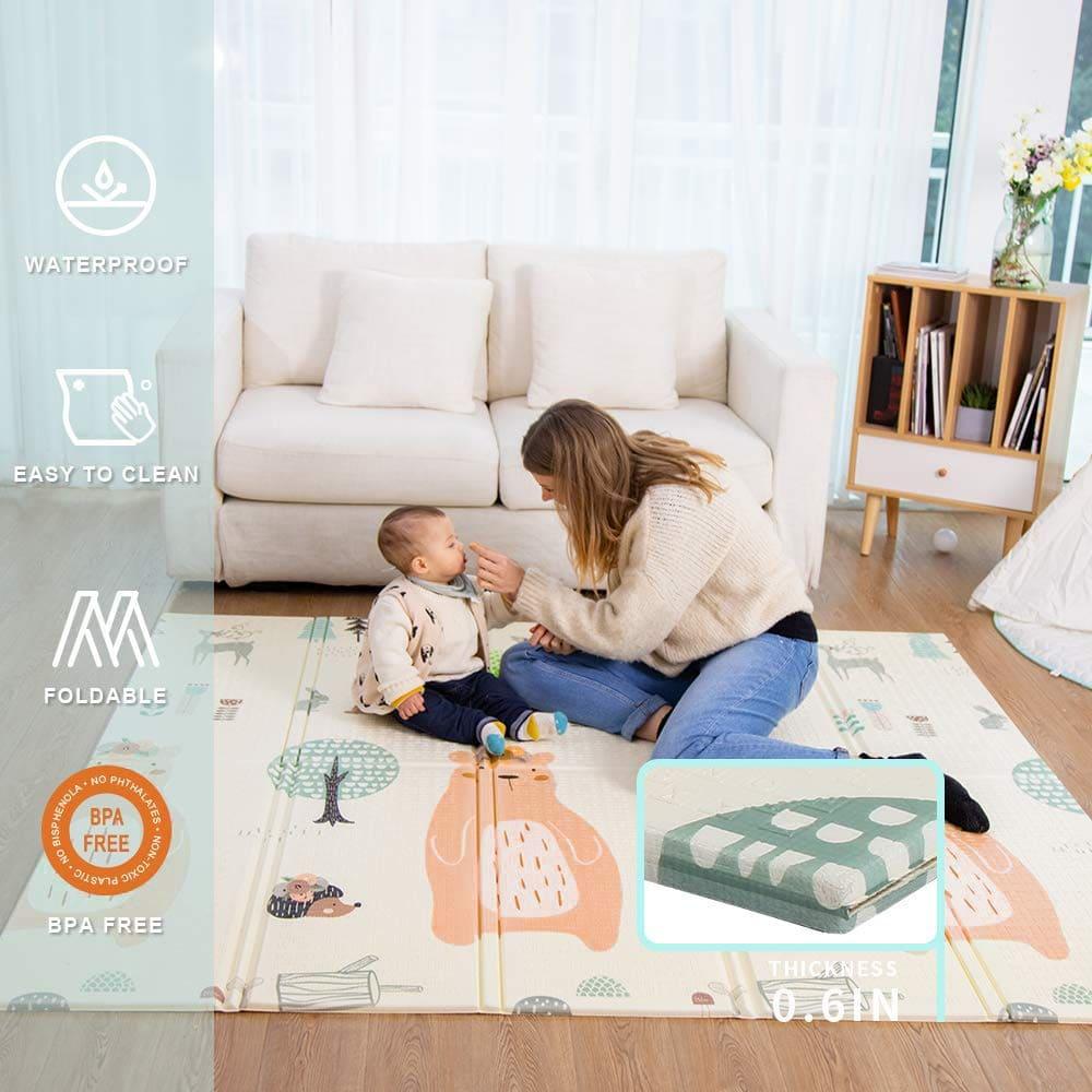 4. Baby Spiel Matte Verdickte Vergrößerte Schaumstoffmatte Faltbare